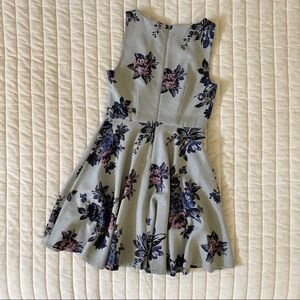 Elle Dresses - ELLE Floral Fit-and-Flare Dress